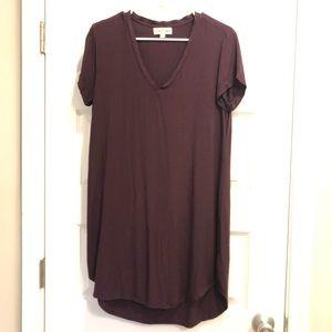 Cloth & Stone Deep Purple t-shirt dress in S